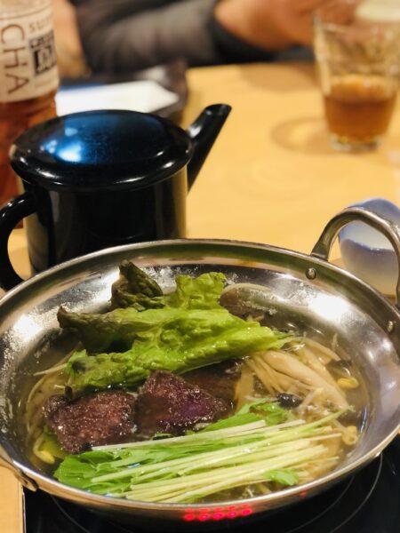 本来は「くじら肉と水菜」のお鍋をはりはり鍋、というのだそうです